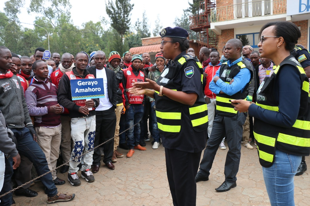 Gerayo Amahoro campaign extended to taxi-moto operators